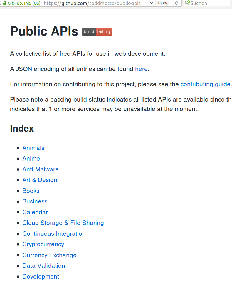 https://github.com/toddmotto/public-apis