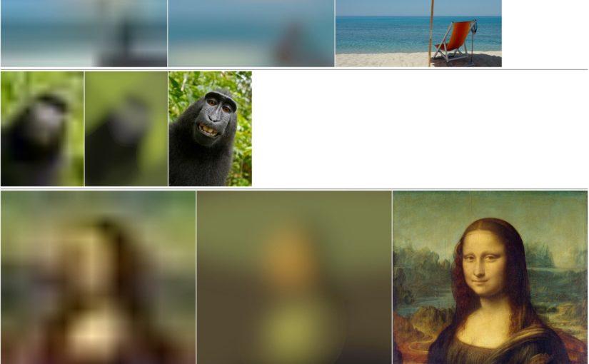 Lazy Loading + Bild Platzhalter + Bilder ersetzen, bis das Original geladen wurde
